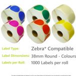 38mm Round - Colours
